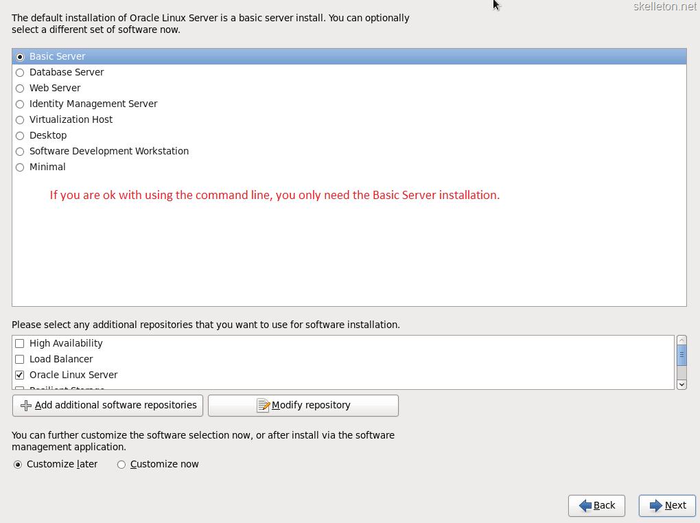 Installing Oracle Linux and Apex | skelleton net