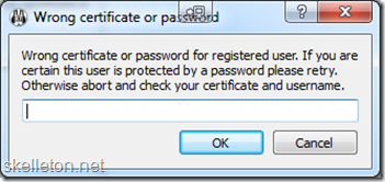 Mumble Password Request